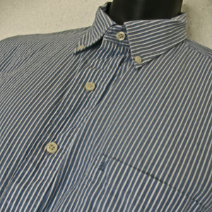 IZOD Men's XL Long Sleeve Button Down Pin Stripe